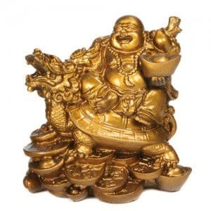 Happy Buddha Statue Turtle Dragon